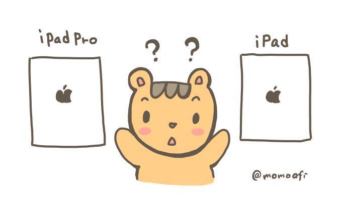 iPadProとiPadを比較イラスト