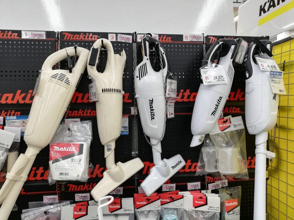 マキタ掃除機の種類の多さがわかる写真