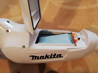 マキタ掃除機の紙パック式の見た目